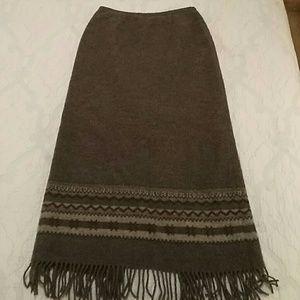 Talbot's gray long wool skirt size 10.